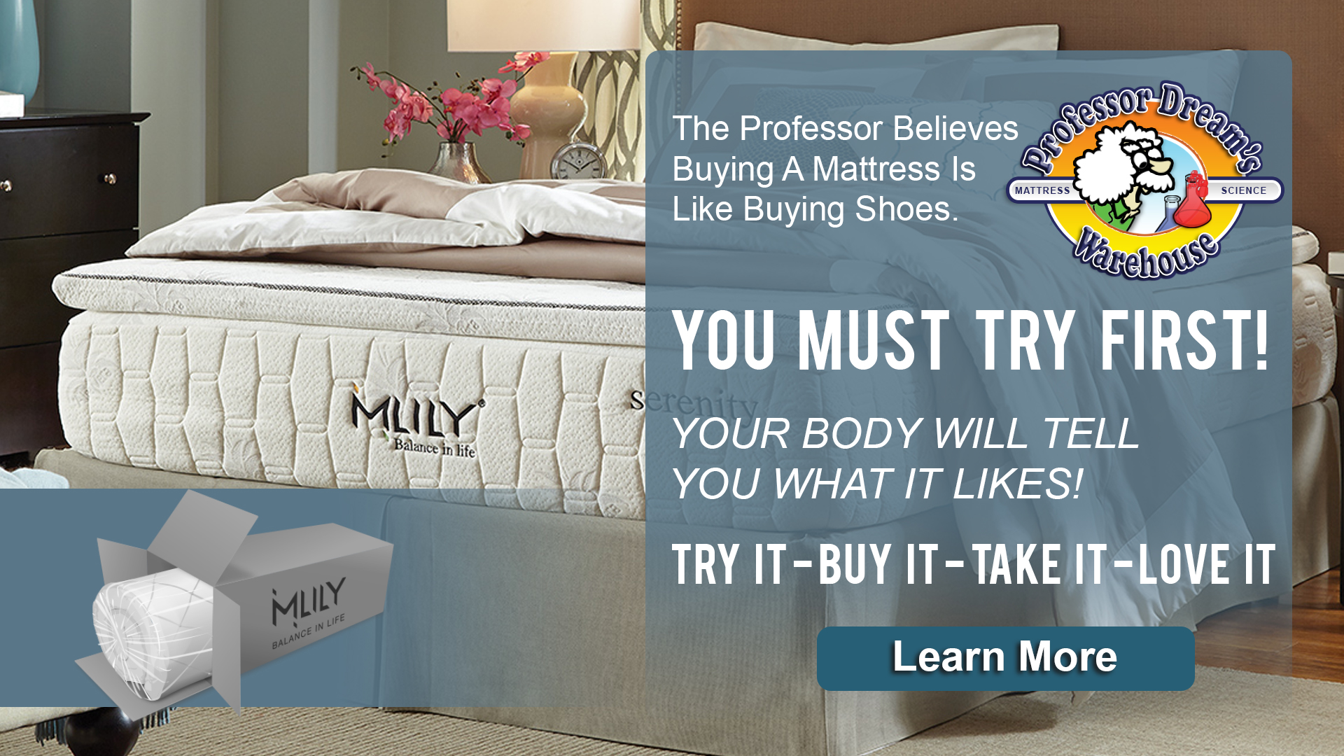 2018 MLILY banner ad - Save Big Mattress